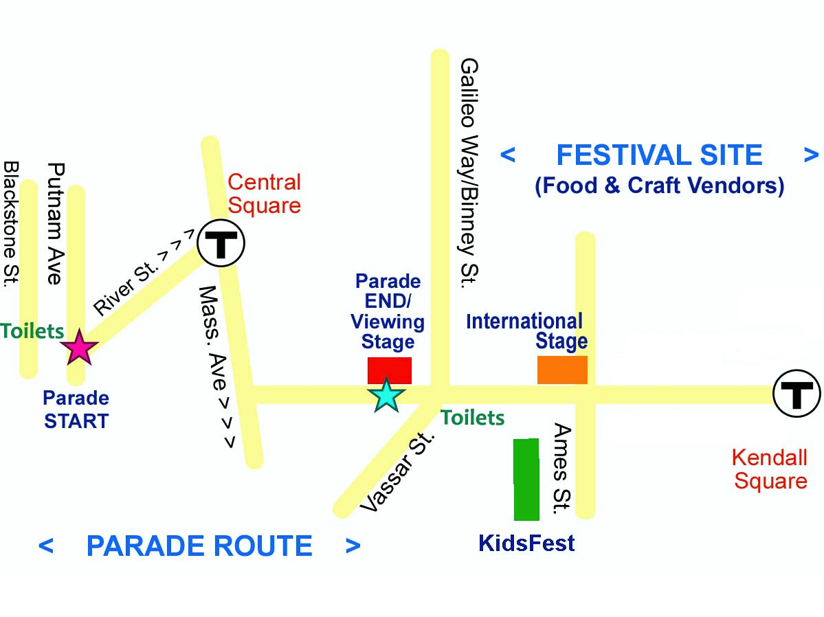 cambridge carnival parade map
